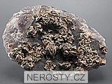 fluorit, siderit