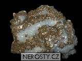 křemen, kalcit, pyrit