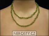 olivín,náhrdelník sekaný