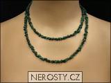 malachit,náhrdelník sekaný