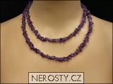 ametyst,náhrdelník sekaný