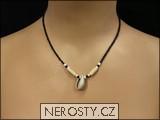 mušlička náhrdelník,korálky