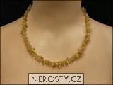 citrín,náhrdelník sekaný