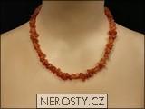 karneol,náhrdelník sekaný
