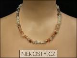 kalcit,náhrdelník sekaný