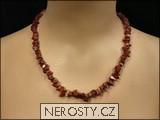 jaspis,náhrdelník sekaný