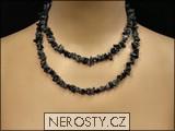 obsidián,náhrdelník sekaný