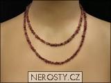 rubelit,náhrdelník sekaný