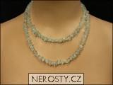 akvamarín,náhrdelník sekaný