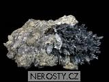antimonit, chalkopyrit, stibikonit
