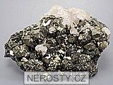 arzenopyrit, pyrit, kalcit
