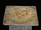 zlatý aragonit,miska
