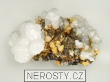 kalcit, manganokalcit, pyrit