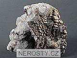 manganokalcit, , pyrit, kalcit