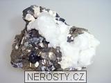 arzenopyrit, manganokalcit, kalcit, pyrit
