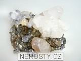 arzenopyrit, kalcit, pyrit