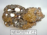 manganokalcit, siderit, pyrit, sfalerit