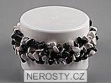 onyx a magnezit,elastický náramek