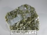 akvamarín, goshenit, muskovit