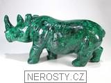 malachit,nosorožec