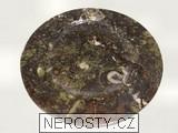 mramor s fosíliemi,kulatý talíř