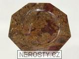 mramor s fosíliemi,osmiboký talíř