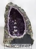 ametyst geoda, kalcit
