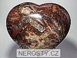 zkamenělé dřevo,srdce
