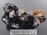 hematit, křišťál