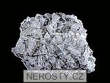 fluorit, , křemen, pyrit