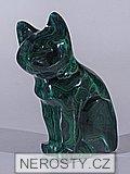 malachit, kočka