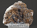 fluorit, , goethit, pyrit, křemen