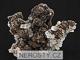 goethit, kalcit, pyrit