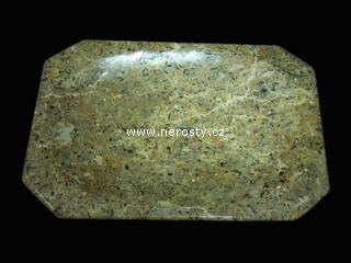 mramor s fosíliemi + miska