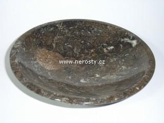 mramor s fosíliemi + ortoceras + miska