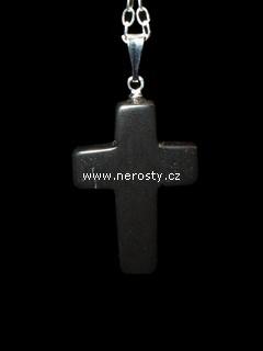 obsidián + křížek