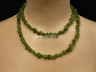 olivín + náhrdelník sekaný