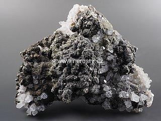 pyrit + chalkopyrit + křemen
