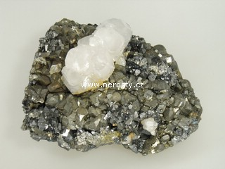 pyrit + kalcit + arzenopyrit