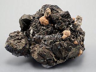pyrit + manganokalcit