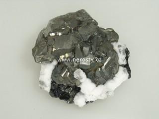 pyrit + manganokalcit + sfalerit