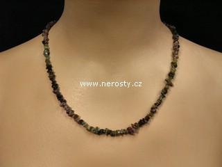 rubelit, verdelit + náhrdelník sekaný