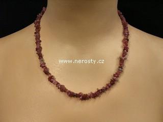 rubelit + náhrdelník sekaný