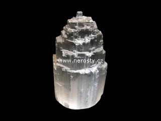 selenit + těžítko + štípaný krystal