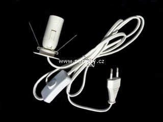 set kabel plus žárovka 15W