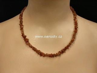 sluneční kámen + náhrdelník sekaný