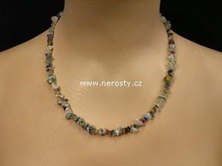 směs kamenů + náhrdelník sekaný