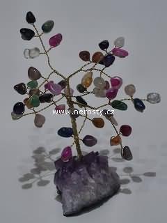 směs kamenů + stromeček štěstí