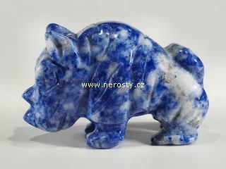 sodalit + nosorožec