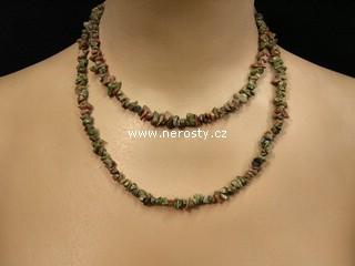 unakit + náhrdelník sekaný